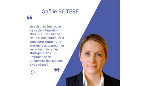 Gaëlle Boterf intègre SGE Consulting comme Market Access & Corporate Strategy Director
